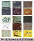 Reusachtige inzamelings grunge grens-bekledingen stock illustratie