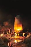 Reusachtige lantaarn Stock Afbeelding