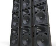 Reusachtige luidsprekers Royalty-vrije Stock Foto
