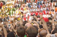 Reusachtige menigte Royalty-vrije Stock Foto's