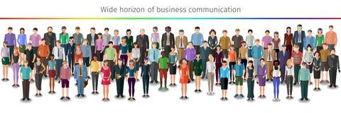 Reusachtige menigte van mensen vector illustratie