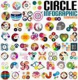 Reusachtige moderne het malplaatjereeks van het cirkel infographic ontwerp Stock Fotografie