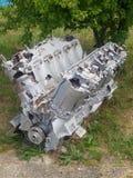 Reusachtige motor in museum stock foto's
