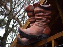 Reusachtige rode schoenen Stock Foto