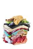 Reusachtige stapel van bed-clothes | Geïsoleerda Royalty-vrije Stock Foto