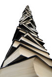 Reusachtige stapel van boeken stock afbeeldingen