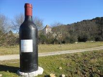Reusachtige wijnfles Stock Afbeeldingen