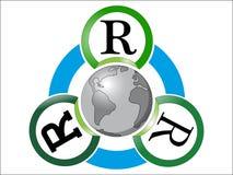 Reusar de Reduse recicl Foto de Stock
