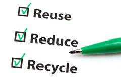 Reusar, reduz-se e recicl foto de stock