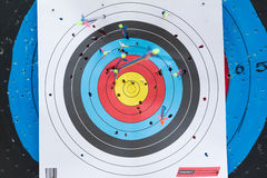Reuse Archery target Stock Image