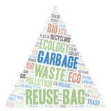 Reuse Bag word cloud. Wordcloud made with text only stock illustration