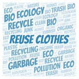 Reuse Clothes word cloud. Wordcloud made with text only vector illustration