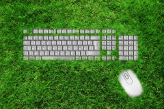 Reuse E scrap concept. Keyboard Mouse Royalty Free Stock Photos