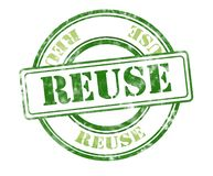 Reuse grunge rubber stamp royalty free stock photos