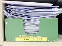 Reuse paper. For new reused Royalty Free Stock Photography
