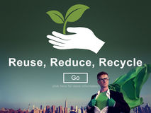 Reuse Reduce Recycle Sustainability Ecology Concept Royalty Free Stock Photography