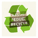 Reuse reduce recycle vector illustration. Creative graphic design with recycle sign vector illustration