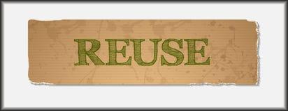 Reuse tekst na pusty grunge przetwarzającym papierze ilustracja wektor