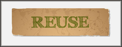 Reuse text on blank grunge recycled paper Royalty Free Stock Image