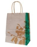 A reuseable bag. Isolated with shopping paper bag Stock Photos