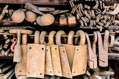 Reused rust equipments Stock Images