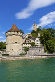 Reuss River and Lucerne Castle Stock Photography