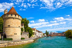 Reuss River in Lucerne, Switzerland Royalty Free Stock Image