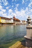 Reuss River in Luzern, Switzerland Royalty Free Stock Photography