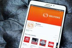 Reuters app στο κατάστημα παιχνιδιού google Στοκ φωτογραφία με δικαίωμα ελεύθερης χρήσης