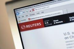Reuters.com hoofdintenetpagina Stock Afbeelding