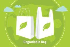 Reutilizables degradables reciclan el bolso Foto de archivo libre de regalías