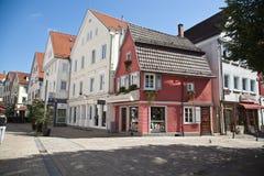Reutlingen. Downtown. Downtown Reutlingen in Germany with shops, pubs, coffee bar stock images