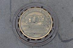 Reutlingen Marktplatz-Abwasserkanaldeckel Lizenzfreie Stockfotos
