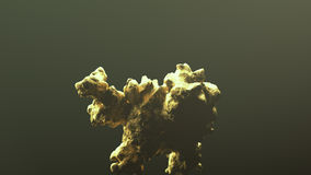 Reuze gouden goudklompje Stock Afbeeldingen