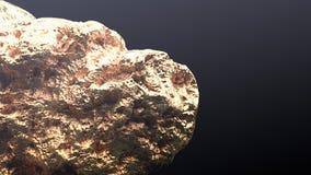 Reuze gouden goudklompje Royalty-vrije Stock Afbeelding