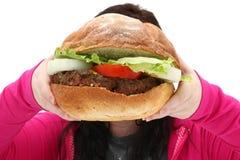 Reuze Hamburger stock fotografie