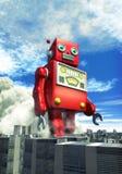 Reuze het tinstuk speelgoed van de robot Royalty-vrije Stock Fotografie