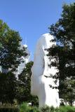 Reuze hoofdbeeldhouwwerk in Millenniumpark, Chicago royalty-vrije stock afbeelding