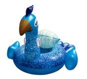 Reuze kleurrijke pauwvlotter Opblaasbare vlotter royalty-vrije stock foto's