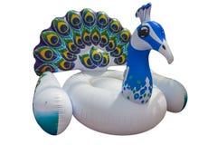 Reuze kleurrijke pauwvlotter Opblaasbare vlotter royalty-vrije stock afbeelding