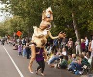 Reuze Marionet op Stokken Stock Fotografie