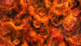 Reuze in openlucht explosie met brand en zwarte rook stock videobeelden