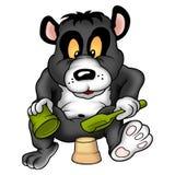 Reuze panda en modderpastei stock illustratie
