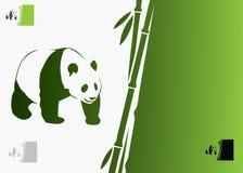 Reuze pandaachtergrond royalty-vrije illustratie