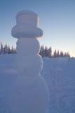 Reuze Sneeuwman Stock Foto's
