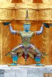 Reuze Standbeeld - in Groot Paleis Bangkok Thailand Stock Foto