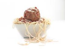 Reuze vleesballetje stock afbeelding