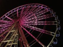 Reuze wiel bij nacht Royalty-vrije Stock Afbeelding