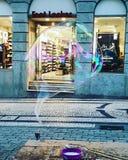 Reuzebel kleurrijk Portugal van de binnenstad royalty-vrije stock afbeelding