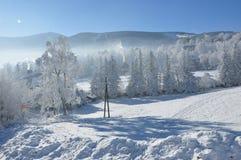 Reuzebergen/Karkonosze, Karpacz-de winter Royalty-vrije Stock Afbeelding